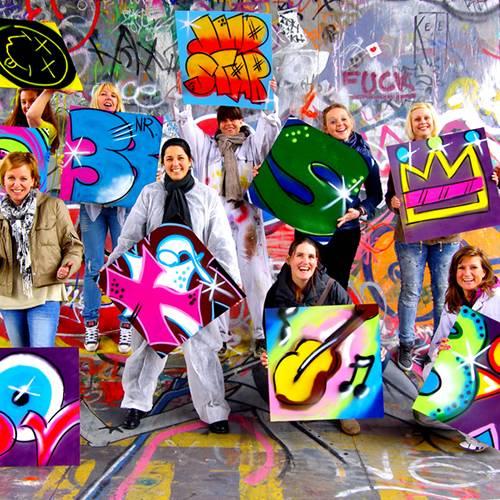 graffiti vrijgezellenfeest vrouwen breda